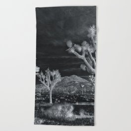 Joshua Tree InfraRed by CREYES Beach Towel
