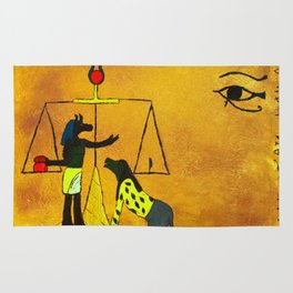 Ammit and Osirus Judge a Soul Rug