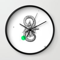 psychology Wall Clocks featuring Archetypes Series: Rebirth by Attitude Creative