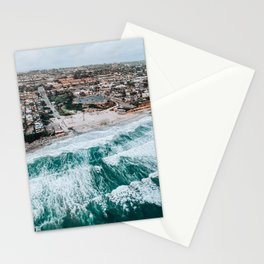 Moonlight Beach | San Diego Aerial Photo Stationery Cards