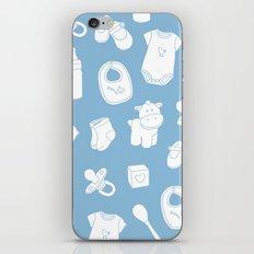 Baby blue iPhone & iPod Skin