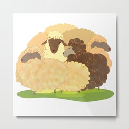 There is always a black sheep Metal Print