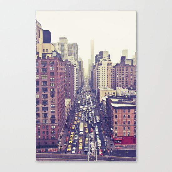 flying over first... (colour) Canvas Print