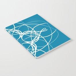 Blue White Swirl Notebook