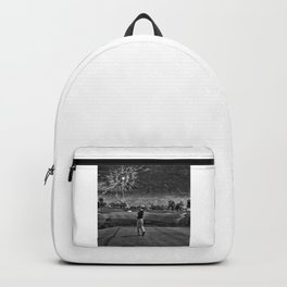 Broken Glass Sky - Black and White Version Backpack