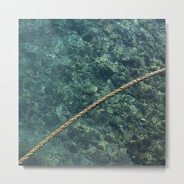 Rope over clear water Metal Print