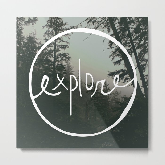 Explore Oregon Forest Metal Print