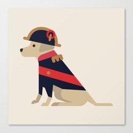 Napoleon, dog emperor Canvas Print