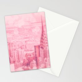 Pink and Bubbly New York City Stationery Cards