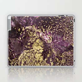 Purple leaves in melted gold Laptop & iPad Skin