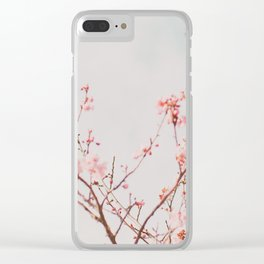 Pink Flowers in the Sky Clear iPhone Case
