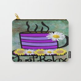 Coffee cup Just relax Carry-All Pouch