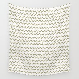 Sketched Zig Zag Stripes in Cream Wall Tapestry