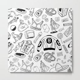 Seinfeld Pattern (White Background) Metal Print