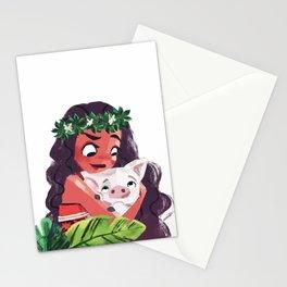 Moana & Pua Stationery Cards