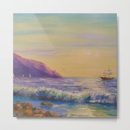 To his native shores Metal Print