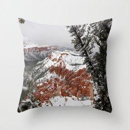 Bryce Canyon Winterscene Throw Pillow