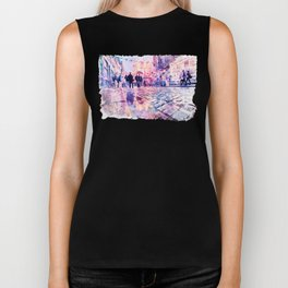 Dublin Watercolor Streetscape Biker Tank