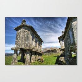 Lindoso granaries and the castle Canvas Print