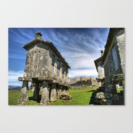 Lindoso granaries and the castle Canvas Print