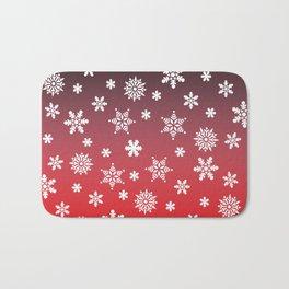 Snow Flurries-Red/Black Ombre Bath Mat