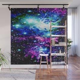 Fox Fur Nebula Dark & Vibrant Wall Mural