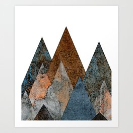 Watercolor Mountains Art Print