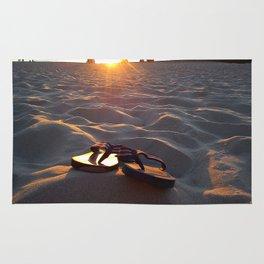 Flip Flops On The Beach Rug