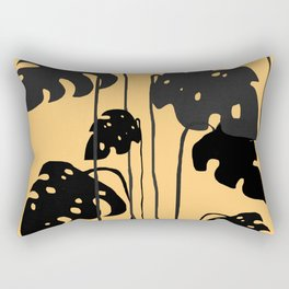 gold and black leaves Rectangular Pillow