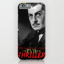 The Evil of the Thriller, Vincent Price iPhone Case