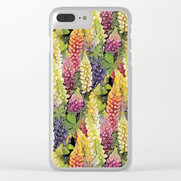 Lupine thickets Clear iPhone Case
