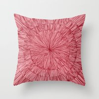 pulp Throw Pillows featuring Pulp Fig by Anchobee