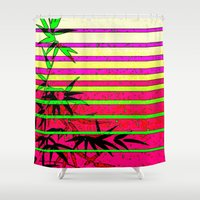 bamboo Shower Curtains featuring Bamboo by Mr and Mrs Quirynen