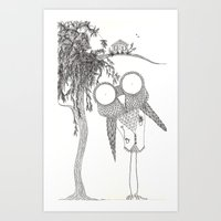Hoo Knew! Art Print