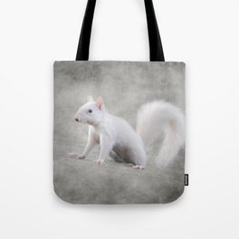 Albino Squirrel Tote Bag