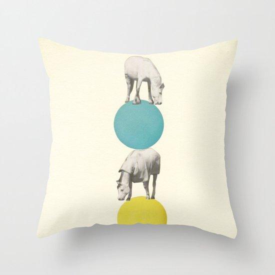 Horseplay Throw Pillow