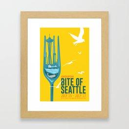 Bite of Seattle Framed Art Print