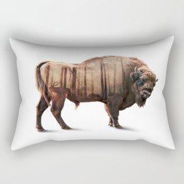 Bison Double exposure Rectangular Pillow