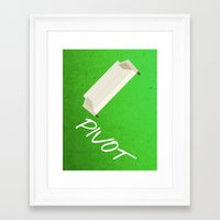 pivot Framed Art Prints featuring Friends 20th - Pivot by Allison Hoover