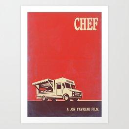 Chef Vintage Style Art Art Print
