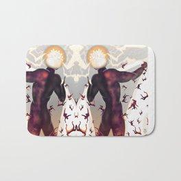 Falling in line [Mirrored version] Bath Mat