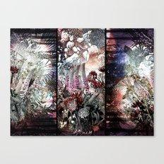 Trippy Botanic Triptich Canvas Print