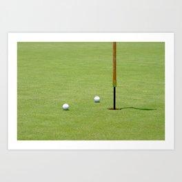 Golf Pin Art Print