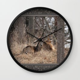 White-Tailed Deer Wall Clock