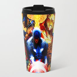 super heroes unite Travel Mug