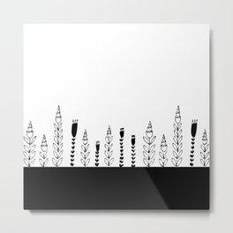 black bar flowers Metal Print