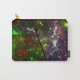Parallel Universe - Split 'space' artwork showing 2 opposing galaxies Carry-All Pouch
