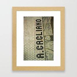 look down  Framed Art Print