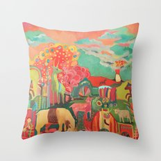 Iceland in my Heart Throw Pillow