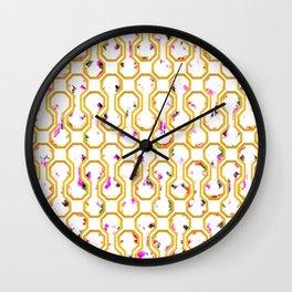 Gold geometric pattern Wall Clock